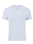 Ash Blue V-Neck Modal Short Sleeve T-Shirt | Polos Collection |Sam's Tailoring Fine Men's Clothing