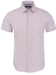 White Bunnies Print Shirt Sleeve Men Shirt | Short Sleeves Shirts Collection | Fine Men's Clothing
