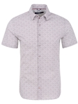 White Wine Glasses Print Short Sleeve Shirt | Short Sleeves Shirts Collection | Fine Men's Clothing