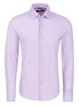 Purple Geometric Knit Long Sleeve Dress Shirt | Dress Shirts Collection | Sams Tailoring Fine Mens Clothing