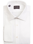 White Mini Pique French Cuff Ike by Ike Behar Dress Shirt | IKE Behar Dress Shirts | Sam's Tailoring Fine Men's Clothing