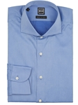 Blue Italian Twill Spread Collar Dress Shirt | IKE Behar Dress Shirts | Sam's Tailoring Fine Men's Clothing