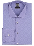 Lilac Check On Diagonal Marcus Dress Shirt | IKE Behar Dress Shirts | Sam's Tailoring Fine Men's Clothing