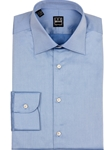 Blue Italian Twill Fine Men Dress Shirt | IKE Behar Dress Shirts | Sam's Tailoring Fine Men's Clothing