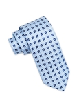 Blue Floral Club Pattern Silk Tie | Ike Behar Ties Collection | Fine Men's Clothing