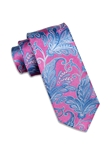 Lavender and Sky Blue Paisley Silk Tie | Ike Behar Ties Collection | Fine Men's Clothing