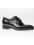 Black Hand Painted Mastrich Derby Shoe |  Joes Real Shoes Collection | Sam's Tailoring Fine Men Clothing