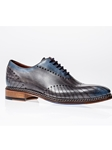 Antracite Celeste Burnished Toe Veloce Oxford | Jose Real Shoes Collection | Sam's Tailoring Fine Men Clothing