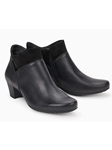Black Smooth Leather Suede Zipper Boot | Women Boots Collection | Sam's Tailoring