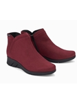 Red Leather Lining Nubuck Zipper Women Boot | Women Boots Collection | Sam's Tailoring