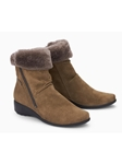 Brown Warm Lining Suede Women's Boot | Women Boots Collection | Sam's Tailoring
