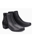 Black Smooth Leather Women Zipper Boot | Women Boots Collection | Sam's Tailoring