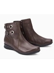 Dark Brown Warm Lining Zipper Women's Boot | Women Boots Collection | Sam's Tailoring