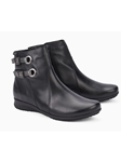 Black Warm Lining Zipper Women's Boot | Women Boots Collection | Sam's Tailoring