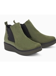 Khaki Warm Lining Women's Chelsea Boot | Women Boots Collection | Sam's Tailoring