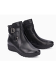 Black Smooth Leather Zipper Women's Boot | Women Boots Collection | Sam's Tailoring