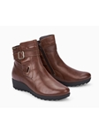 Hazelnut Smooth Leather Zipper Women's Boot | Women Boots Collection | Sam's Tailoring