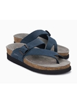 Navy Nubuck Buckle Fastener Womens Sandal | Women's Classic Sandals | Sams Tailoring