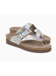 Rainbow Snake Print Metallic Leather Sandal | Women's Classic Sandals | Sams Tailoring