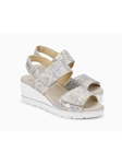 Silver Smooth Leather Ultra Light Wedge Sandal | Women's Wedges Sandal | Sam's Tailoring