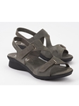 Grey Leather Lining Nubuck Ankle Straps Sandal | Women's Ankle Straps Sandal | Sams Tailoring