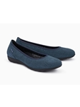 Navy Nubuck Leather Lining Women's Flat Shoe | Women's Flat Shoes | Sams Tailoring