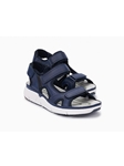 Dark Blue Pu Textile Lining Women's Outdoor Sandal | Women's Outdoor Shoes  | Sams Tailoring