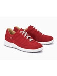 Red Leather Lining Nubuck Womens Sneaker | Women's Sneakers Collection | Sams Tailoring