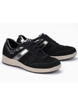 Black Leather Lining Nubuck Laces Women Sneaker | Women's Sneakers Collection | Sams Tailoring