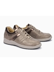 Dark Taupe Leather Lining Nubuck Women Sneaker | Women's Sneakers Collection | Sams Tailoring