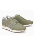 Moss Green Leather With Mirror Effect Nubuck Sneaker | Women's Sneakers Collection | Sams Tailoring