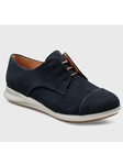 Midnight Blue Suede Light Grey Sole Shoe | Fine Women's Shoes | Sam's Tailoring