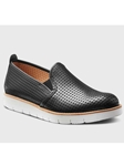 Black Full Grain Leather White Sole Women Shoe | Fine Women's Shoes | Sam's Tailoring