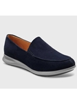 Midnight Blue Suede Grey Sole Women Shoe | Fine Women's Shoes | Sam's Tailoring