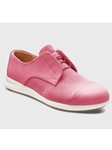 Fuchsia Nubuck White Sole Women's Shoe | Fine Women's Shoes | Sam's Tailoring
