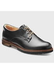 Black Polished Leather Black Sole Women Oxford | Fine Women's Shoes | Sam's Tailoring