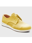 Lemon Drop Nubuck White Sole Women's Shoe | Fine Women's Shoes | Sam's Tailoring