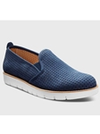 Midnight Blue Nubuck White Sole Women's Shoe | Fine Women's Shoes | Sam's Tailoring