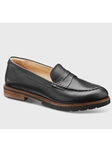 Black Polished Leather Black Sole Dress Shoe | Fine Women's Shoes | Sam's Tailoring