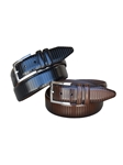 Brown Italian Calfskin Full Grain Leather Dress Belt | Lejon Belts collection | Sam's Tailoring Fine Men Clothing