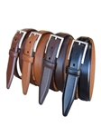 Cognac Full Grain Anline Steerhide Leather Dress Belt | Lejon Belts collection | Sam's Tailoring Fine Men Clothing