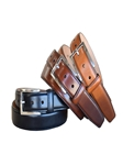 Cognac Italian Glazed Aniline Veg Leather Dress Belt | Lejon Belts collection | Sam's Tailoring Fine Men Clothing