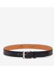 Black Brandon Leather Big & Tall Belt | Trafalgar Big & Tall Belts | Sams Tailoring Fine Men Clothing
