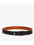 Black Wesley Leather Big & Tall Casual Belt | Trafalgar Big & Tall Belts | Sams Tailoring Fine Men Clothing