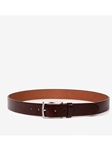 Brown Atticus Leather Casual Belt | Trafalgar Belts Collection | Sams Tailoring Fine Men Clothing