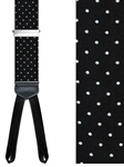 Black Concord Polka Dot Formal Brace | Trafalgar Braces Collection | Sams Tailoring Fine Men Clothing