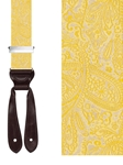 Yellow Medford Paisley Silk Brace | Trafalgar Braces Collection | Sams Tailoring Fine Men Clothing