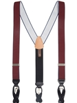 Burgundy Maddox Convertible Brace | Trafalgar Braces Collection | Sams Tailoring Fine Men Clothing