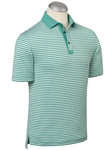 Greenleaf XH2O Jersey Patriot Melange Stipe Polo Shirt | Bobby Jones Polos Collection | Sams Tailoring Fine Men's Clothing