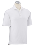 White Solid Stretch Cotton Short Sleeve Polo Shirt | Bobby Jones Polos Collection | Sams Tailoring Fine Men's Clothing